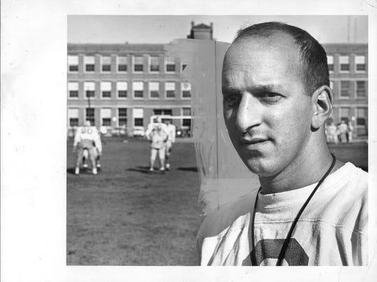Dick Cerone during the 1969 high school football season