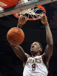 Bucks center Larry Sanders had a big game vs. the Celtics in 2012.