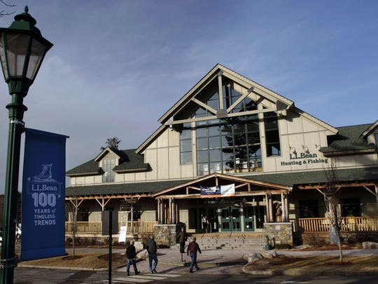 A L.L. Bean retail store in Freeport, Maine. L.L. Bean officials said Wednesday, March 11, 2015, the company plans to make a bigger push into retail stores by more than tripling the number of locations over the next five years.