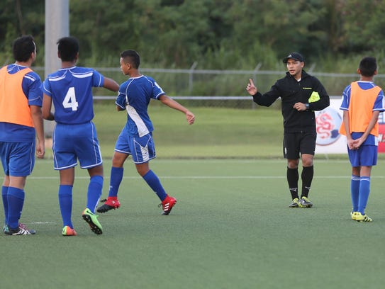 Guam U16 Boys National Team assistant coach Mark Chargualaf,