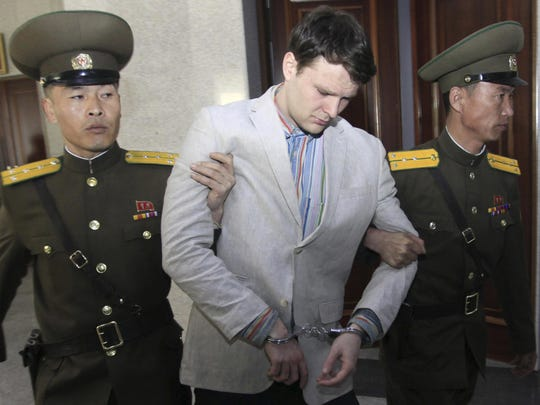 In this January 2016 photo, North Korea announced the detention of American student Otto Warmbier.