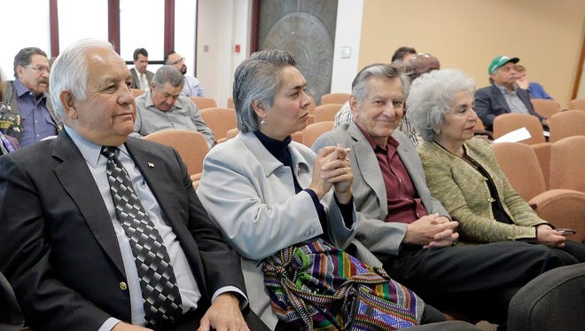 Mexican-American Cultural Institute members, including former U.S. Rep. Silvestre Reyes, Corinne Chacon, Nestor Valencia and Queta Fierro, attend a council meeting in 2015.