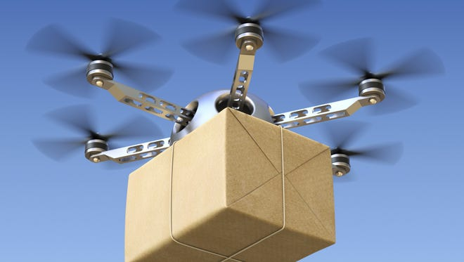 Big box retailers like Wal-Mart and Amazon are in the early phases of testing drones for easier, quicker package delivery. But the applications potentially extend to many businesses.