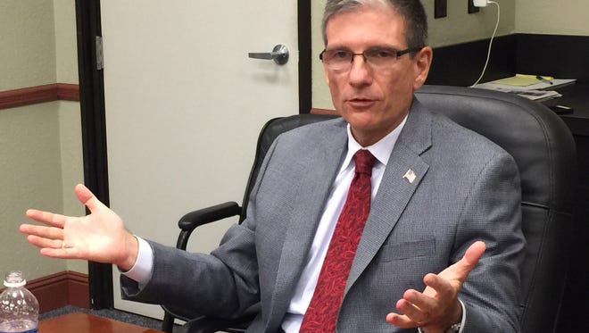 U.S. Rep. Joe Heck, R-Nev., at a meeting with the Reno Gazette-Journal editorial board.