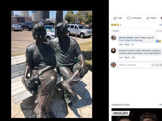 The Art Center of Corpus Christi took to its Facebook page to ask for the public's help in finding the statue of Shirley Durrill. The statue is in front of the Whataburger by the Bay in downtown Corpus Christi.