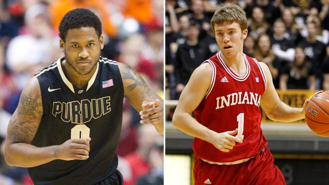 Purdue's Terone Johnson and IU's Jordan Hulls are scheduled to compete in the annual alumni matchup between the two schools.