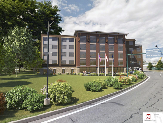 A proposed 5-story, 105-room hotel at Burlington International