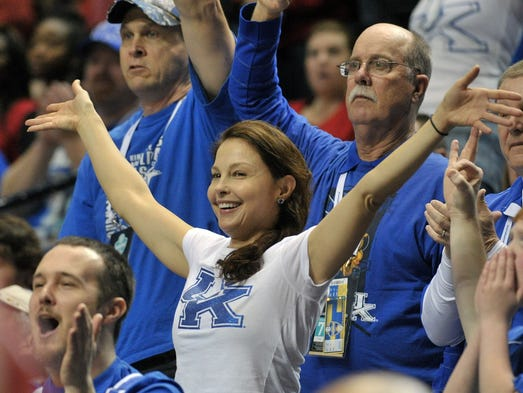 Ashley Judd during the first half of the SEC Conference