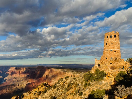 Desert View Watchtower area and Desert View campground are among a number of Grand Canyon areas still closed.