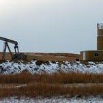 A jack pump drills for oil in the Bakken region of Montana.