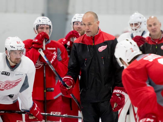 Jeff Blashill has a 77-66-24 record in two seasons as Red Wings coach.