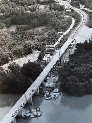 The 13th Street Bridge, scene of terrible crash in 1956.