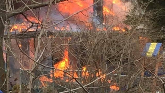 House bursts into flames in Woodbury Heights
