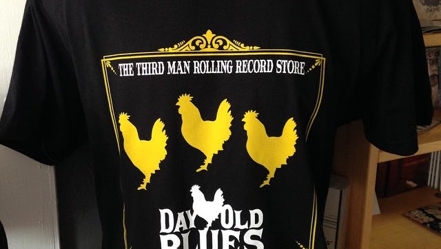 Day Old Blues Records will sell a limited supply of exclusive t-shirts.