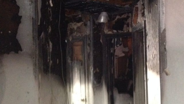 Smoke damage in a Phoenix area home near 43rd Ave and Baseline Rd.