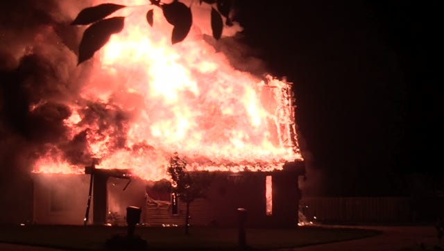 The scene of a house fire in the 2800 block of Sequoia Court early Saturday morning.
