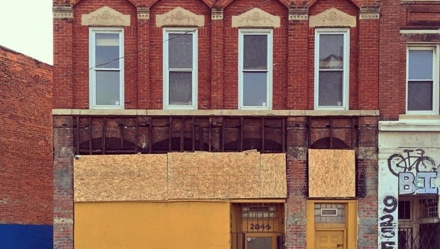 This vacant commercial structure at 2845 Gratiot  was among 27 chosen today to be paired with entrepreneurs in the Motor City Match program.