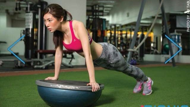 Chelsea Robato was featured as part of an FHM Bionic Fitness feature.