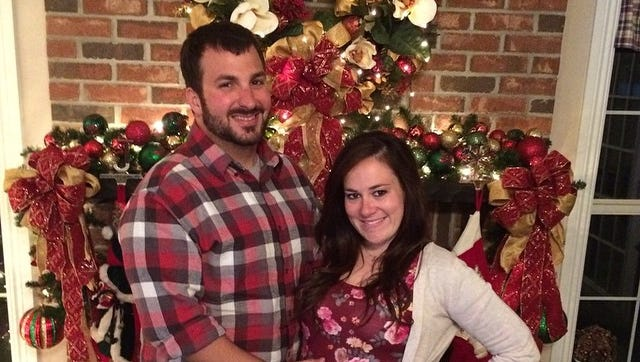Me and my husband at Thanksgiving last year.