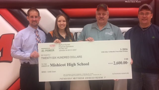 Mishicot High School announced DuPont Pioneer donated $2,600 toward the agriculture education program as part of the Curriculum for Agricultural Science Education program.