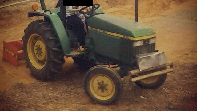 Police are looking for information on this tractor, which was reported stolen from Carthage.