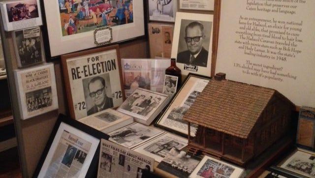 "A look at ""The Life of Sen. Dudley J. LeBlanc, Sr.: Acadian to Cajun"" exhibit."