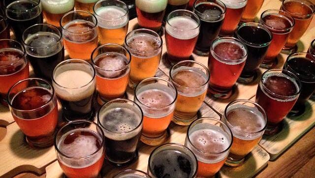 A selection of beers featured at Bayou Teche Brewing