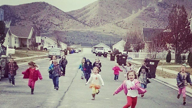 """In """"silly races,"""" we would run backward and sideways; we'd sprint to the finish with our hands behind our backs or high in the air. We'd run from one end to the yard and back, enjoying running in all its forms."""