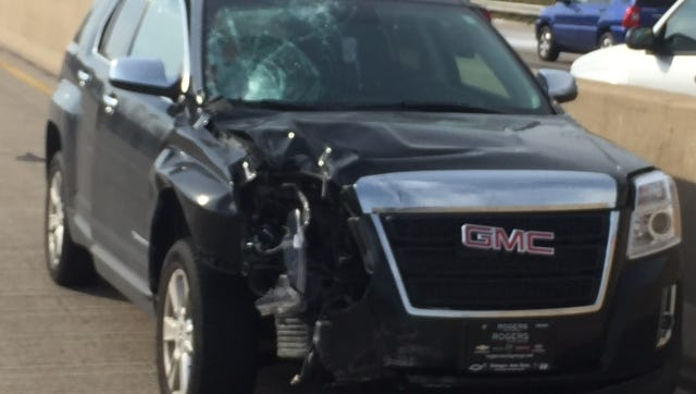 Police are investigating after a car lost control on Oct. 12, 2016, hitting and killing a construction worker in northwest Indiana.