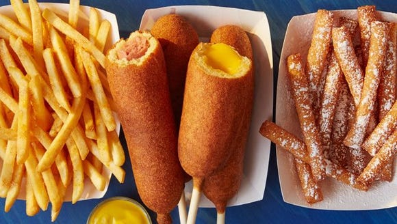 Hot Dog on a Stick offers corn dogs, cheese on a stick,