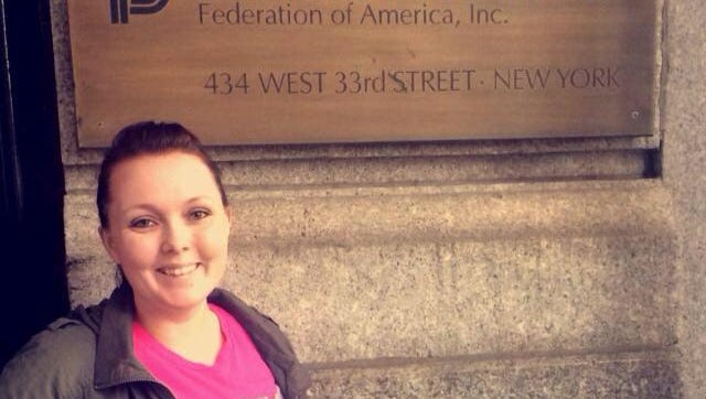 Cayley Winters, a Michigan State University student from Battle Creek and Planned Parenthood advocate, visited the organization's New York City office in 2015.