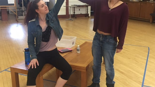 """Alex Stadler as Shelly and Meghan as Deena in """"Almost Maine."""""""