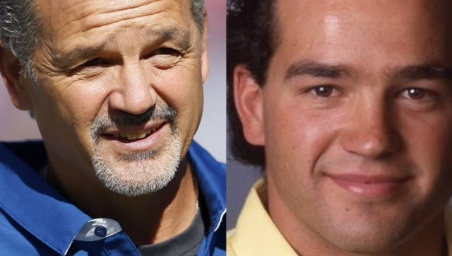Chuck Pagano in 2016 and as a USC graduate assistant.