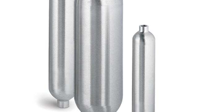 A gas sampling cylinder similar to the ones seen here was used to construct a pipe bomb that exploded early Tuesday morning in Farmington. The outdoor blast caused minor damage and no injuries. Local and federal law enforcement agencies are investigating the blast.