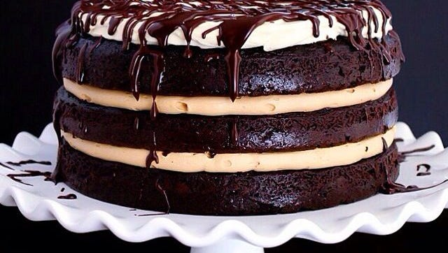 "A holiday favorite, ""Tipsy Whiskey Layer Cake"" by Meghan McGarry, in her blog at www.buttercreamblondie.com."
