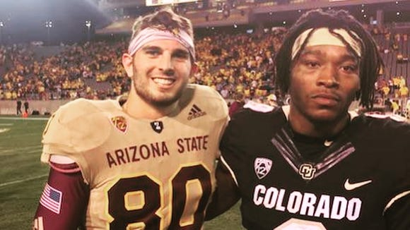 A pair of North Jersey products after the Arizona State/Colorado