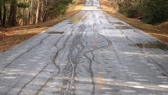 Icy road conditions, as seen here in 2015, at the higher
