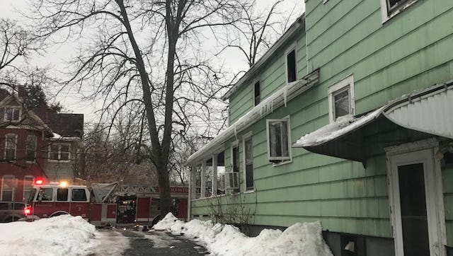Binghamton fire crews battled a fire at 18 Thorp Street Sunday afternoon.