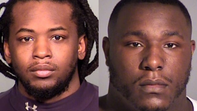 Brian Palmer (left) and Darrin Banks are accused in the killing of a 1-year-old girl.