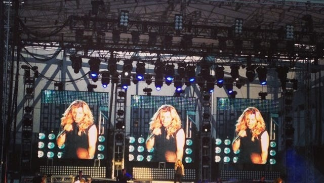 The Band Perry comes on stage with lots of energy. #buckleupfest