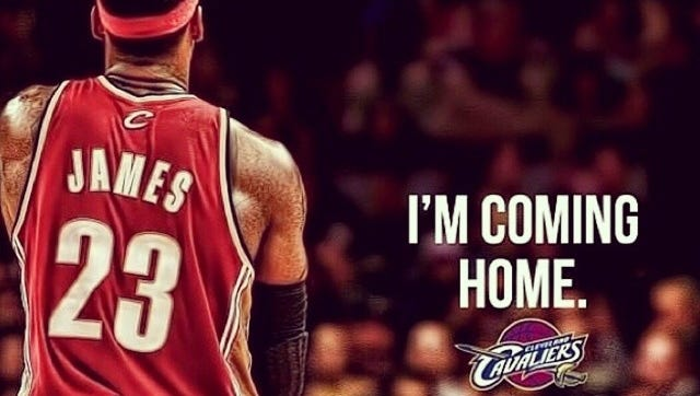 LeBron James announced he'd be returning to Cleveland on Friday after spending four years with the Miami Heat.