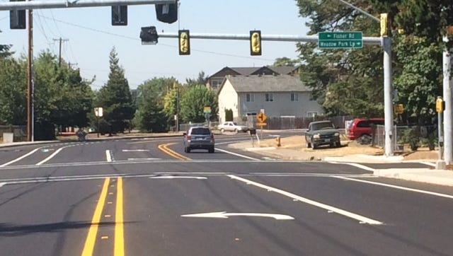 Traffic signals at this intersection will operate starting Thursday morning