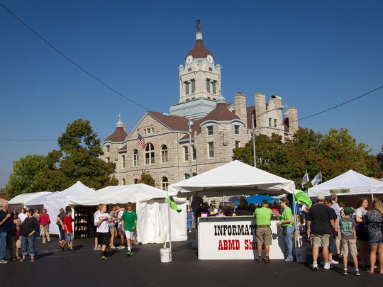 Apple Butter Making Days takes place on the square in Mount Vernon.