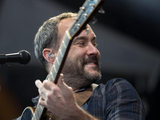 Dave Matthews performs with his band at Ruoff Home Mortgage Music Center, Friday, July 6, 2018. A second show in this local stand is on Saturday evening at the center, also known as Deer Creek.