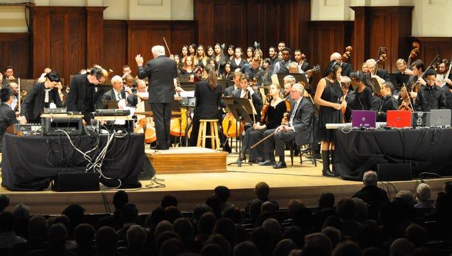 Music director Leonard Slatkin leads the Detroit Symphony Orchestra.