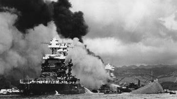 Pearl Harbor attack Dec. 7, 1941.