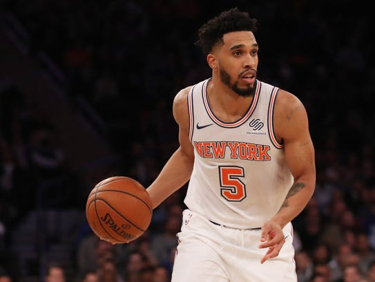 Dec 6, 2017; New York, NY, USA; New York Knicks guard