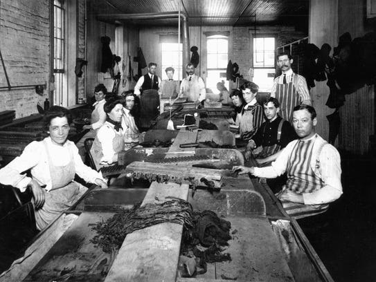 The Richards Cigar Company showing the women employees