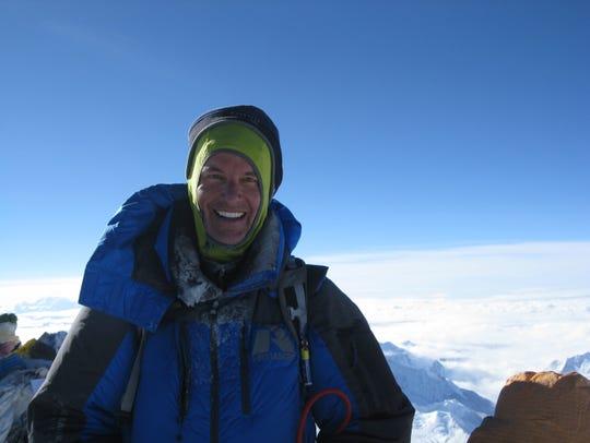 Martin Frey climbing at Mt. Everest.
