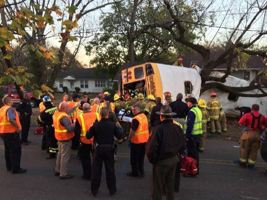 The Chattanooga Fire Department says the last patient has been removed from the bus.